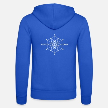 Present Block chain, Bitcoin, digital currency, gift - Unisex Zip Hoodie