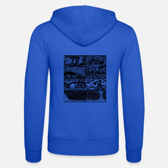 Dinosaurs Hoodies & Sweatshirts - evolution - Unisex Zip Hoodie royal blue