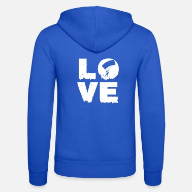 Skydive Love skydiving skydiving gift - Unisex Hooded Jacket by Bella + Canvas