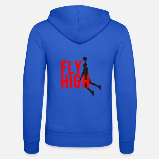 Ball Hoodies & Sweatshirts - Fly high - Unisex Zip Hoodie royal blue