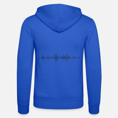 Deadmau5 Beat Waveform DJ Music Dance Techno Beats - Felpa con zip unisex