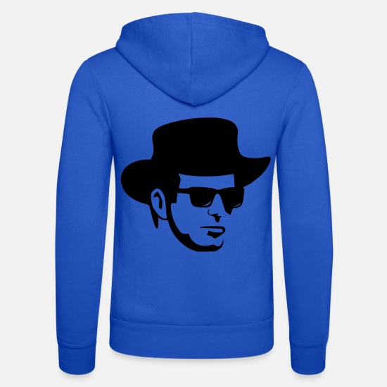 Glasses Hoodies & Sweatshirts - man - Unisex Zip Hoodie royal blue