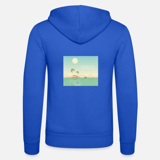 Gift Idea Hoodies & Sweatshirts - Paradise Island - Unisex Zip Hoodie royal blue
