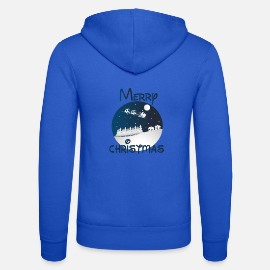 Snowman Hoodies & Sweatshirts - Merry Christmas - Merry Christmas design - Unisex Zip Hoodie royal blue