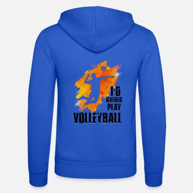 Beachvolleyball Volleyball Shirt Beachvolleyball Team Geschenkidee - Unisex hoodie van Bella + Canvas