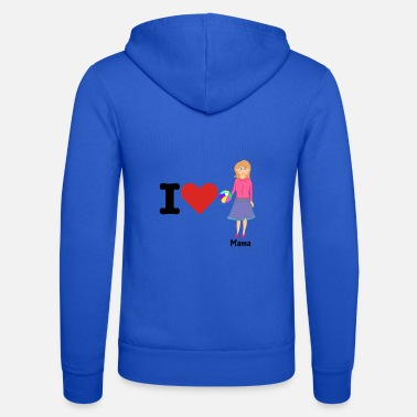 Officialbrands i love mum mother's day gift for mum and mother - Unisex Zip Hoodie