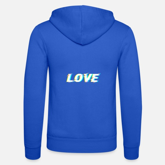 Love Hoodies & Sweatshirts - love - Unisex Zip Hoodie royal blue