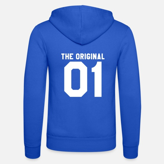 Partnerlook Pullover & Hoodies - Vater und Sohn Partnerlook The Original The Remix - Unisex Kapuzenjacke Royalblau