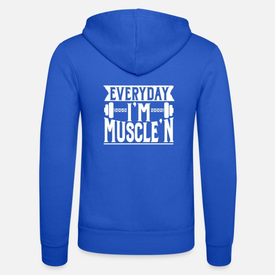 Gym Hoodies & Sweatshirts - Fitness Gym - Unisex Zip Hoodie royal blue