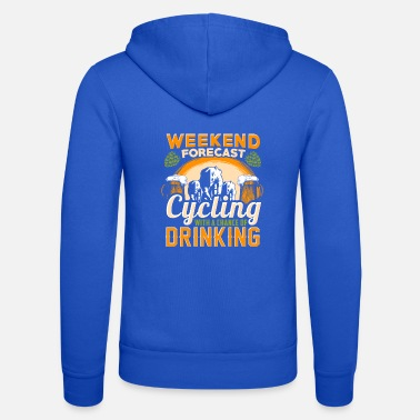 Weekend Forecast Cycling Weekend forecast cycling bike gift - Unisex Zip Hoodie