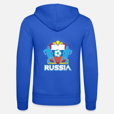 Officialbrands World Soccer Russia / Football Love T-Shirt - Unisex hættejakke