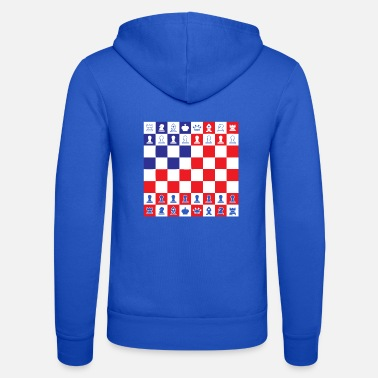 Board Chess Board Game USA Flag Colors Gift - Unisex Zip Hoodie