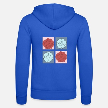 Flower Power Flower Power flowers in square - Unisex Zip Hoodie