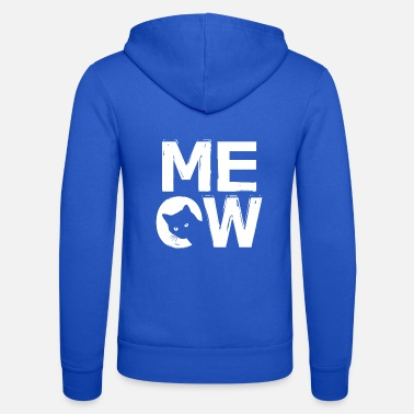 Designs MEOW - cat design - Unisex Zip Hoodie