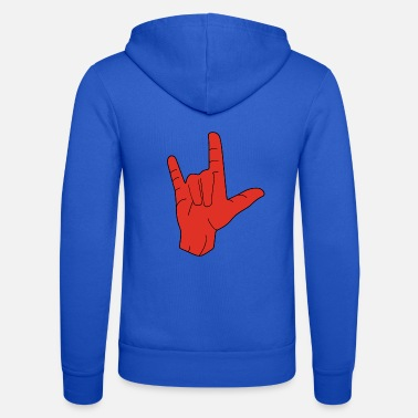 Hand Sign Hand sign sign language love - Unisex Zip Hoodie