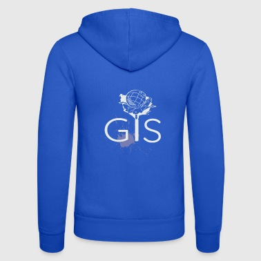 Gis World Gis Geography Fan - Unisex Hooded Jacket by Bella + Canvas