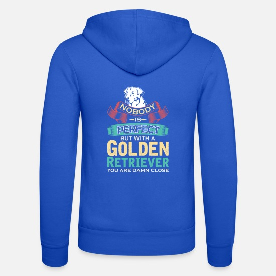 Or Sweat-shirts - Golden Retrievers - Veste à capuche unisexe bleu royal