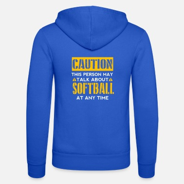 Softball LET OP - Softbalventilator - Unisex zip hoodie