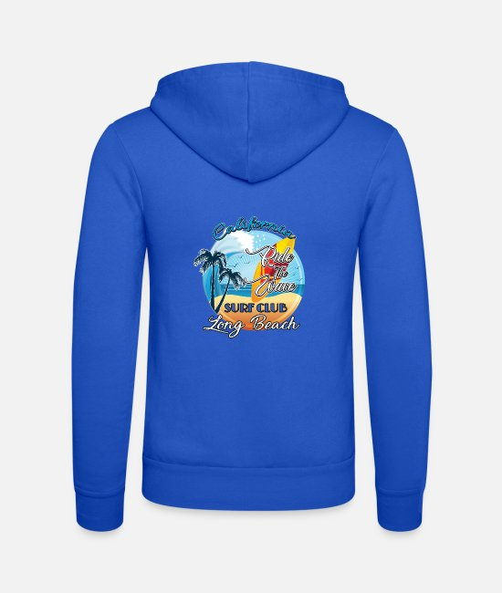 Beverly Hills Hoodies & Sweatshirts - Surf on wave - Unisex Zip Hoodie royal blue
