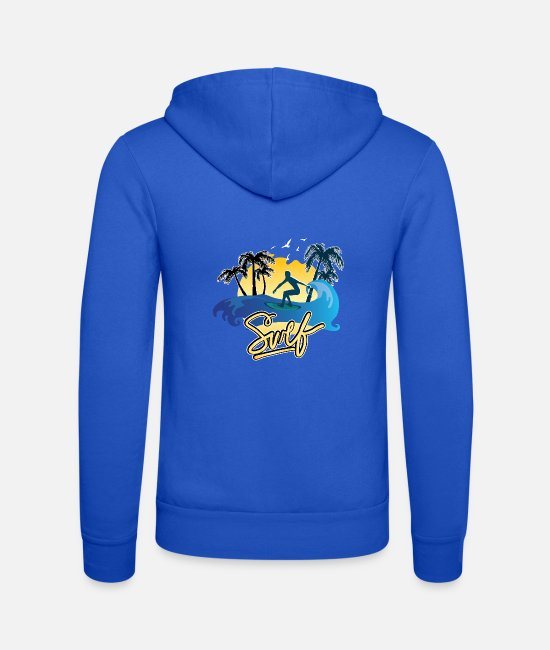 Beach Hoodies & Sweatshirts - surfing - Unisex Zip Hoodie royal blue