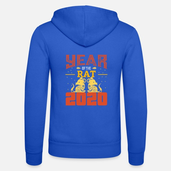 Birthday Hoodies & Sweatshirts - The Chinese Year of the Rat - Rat - Rat - Unisex Zip Hoodie royal blue