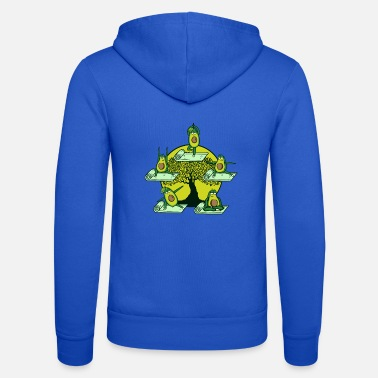 Avocado yoga exercise meditation workout yoga teacher - Unisex Zip Hoodie