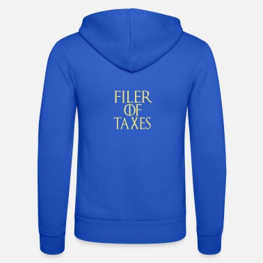 Clock Filer of taxes GOT parody for CPA or accountant - Unisex Zip Hoodie