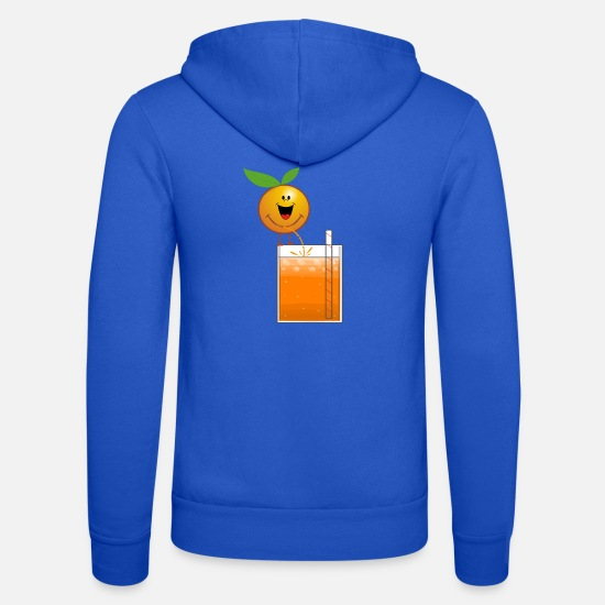 Orange Juice Hoodies & Sweatshirts - Orange pees orange juice - Unisex Zip Hoodie royal blue