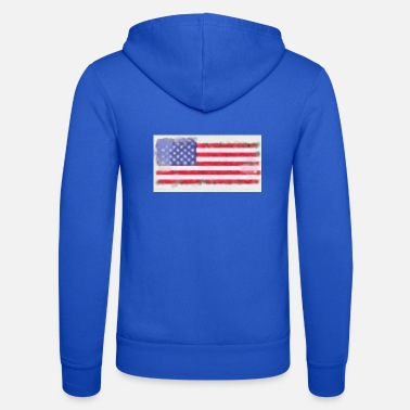 American Flag American flag American flag - Unisex Hooded Jacket by Bella + Canvas