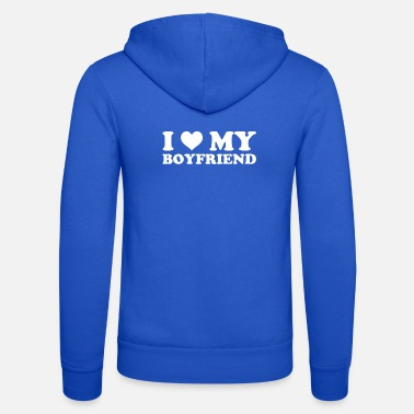 Romantic I Love My Boyfriend Romantic Valentines February - Unisex Zip Hoodie
