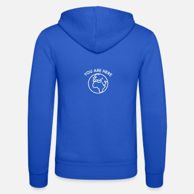 Global Tu sei qui Tee - Earth Day Stop Global Warming - Felpa con zip unisex