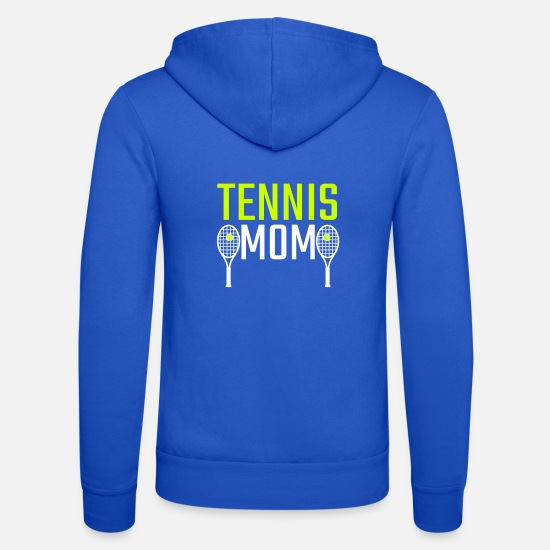 Tennis Hoodies & Sweatshirts - Tennis Mom Gift - Unisex Zip Hoodie royal blue