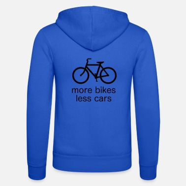 more bikes less cars - Unisex Kapuzenjacke