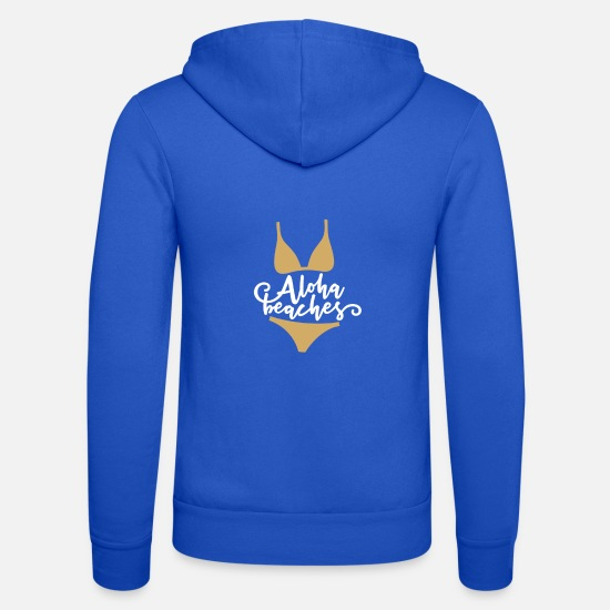 Travel Hoodies & Sweatshirts - Aloha summer bikini swimsuit beach gift - Unisex Zip Hoodie royal blue