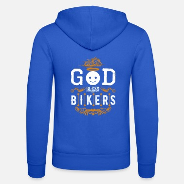 Bless You Bikers GOD BLESS YOU - Unisex Zip Hoodie