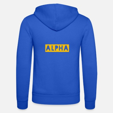 alpha orange - Unisex Zip Hoodie