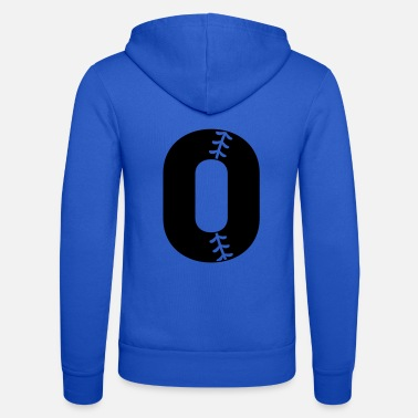 Baseball Numbers with Stitches 3 - Unisex Zip Hoodie
