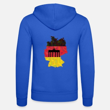 Federal Republic Of Germany The Federal Republic of Germany + Brandenburg Gate - Unisex Zip Hoodie