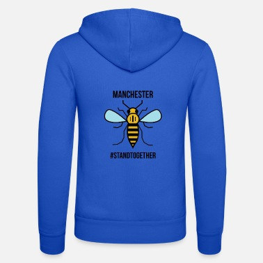 Manchester Manchester Bee - Unisex Hooded Jacket by Bella + Canvas