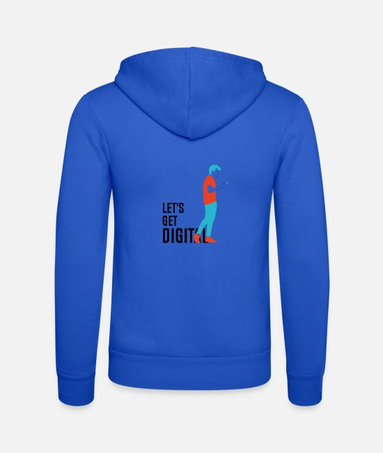 Present Hoodies & Sweatshirts - Digital Native - Unisex Zip Hoodie royal blue