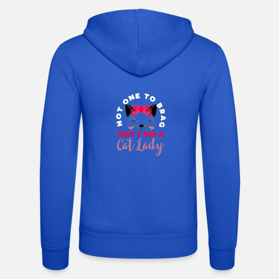 Cat Hoodies & Sweatshirts - Cat Lady - Unisex Zip Hoodie royal blue