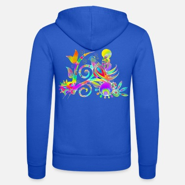 Jewelry Naive painting bird bouquet 4 - Unisex Zip Hoodie