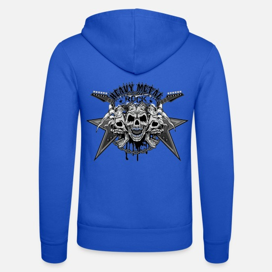 Guitar Player Hoodies & Sweatshirts - Heavy Metal Rock Music Giftidea - Unisex Zip Hoodie royal blue