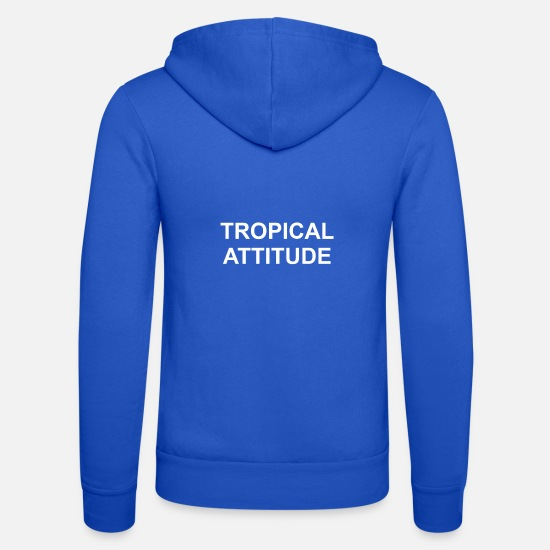Présenter Sweat-shirts - Attitude Tropicale - Veste à capuche unisexe bleu royal