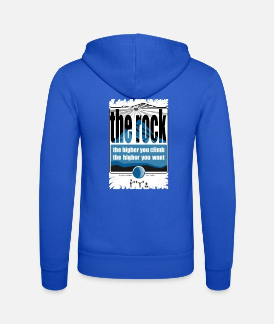 Rock Hoodies & Sweatshirts - the rock - Unisex Zip Hoodie royal blue