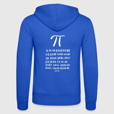 Pi with 60 decimal places - Unisex Hooded Jacket by Bella + Canvas