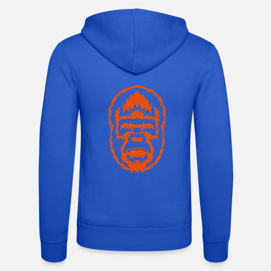 Forest Animal Hoodies & Sweatshirts - gorilla wild animal 306 - Unisex Zip Hoodie royal blue