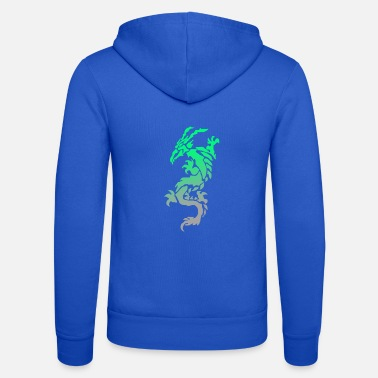 Tribal Dragon tribal dragon - Felpa con zip unisex