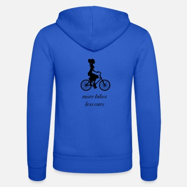 more bikes and less cars - Unisex Kapuzenjacke