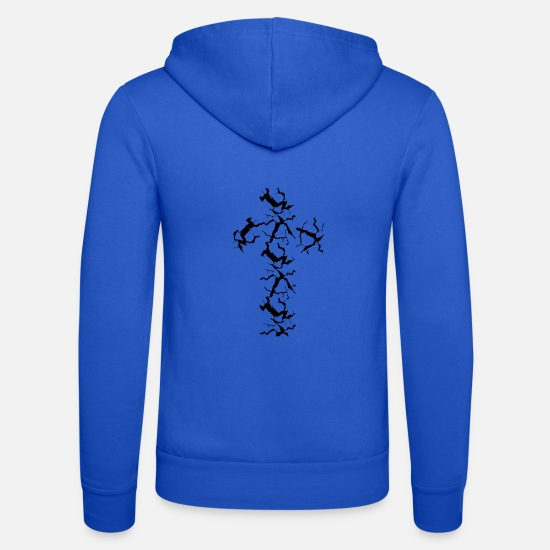 Cross Christianity Hoodies & Sweatshirts - cross - Unisex Zip Hoodie royal blue